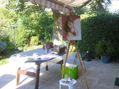 peinture portrait cheval