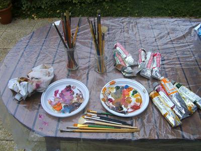 Les palettes du peintre