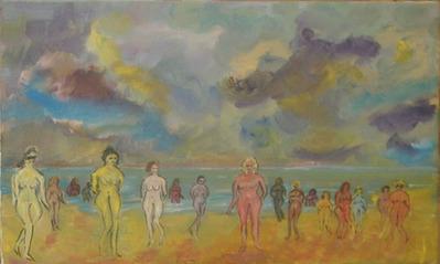 Femmes nues sur la plage