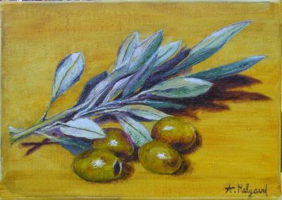 tableau olives vertes