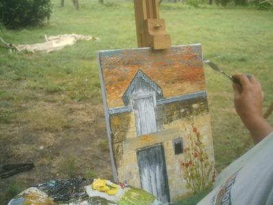 peinture au couteau extérieur