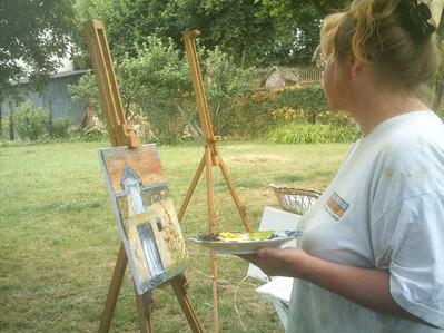 peintre peignant