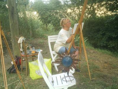 peintre déconcentrée