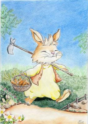 gentil_lapin carotte dessin_enfants