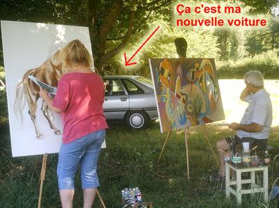 peinture campagne peintres huile