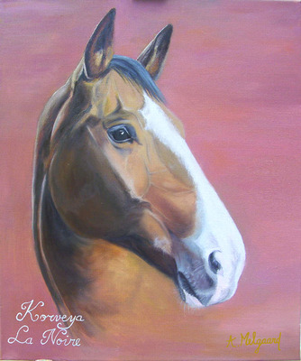 Portrait cheval peinture à l'huile