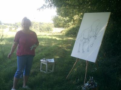 pose peinture
